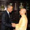 Radhanath Swami trifft Barack Obama