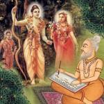 Valmiki Muni verfasst das Ramayana