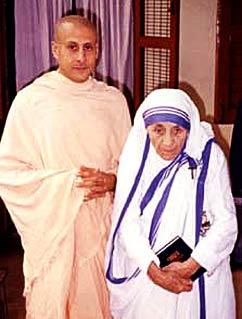Der Autor zusammen mit Mutter Teresa (ca. 1995)