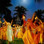Kirtana mit Sri Chaitanya Mahaprabhu vor 500 Jaren in Bengalen
