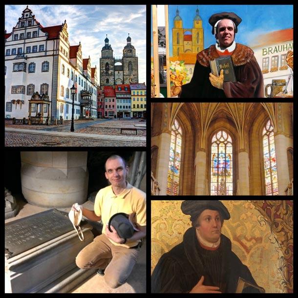 Am Grabmal von Martin Luther