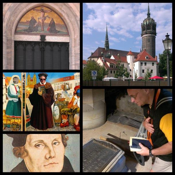 Die Schlosskirche, an dessen Tür im Jahre 1517 von Martin Luther die 95 Thesen angeschlagen wurden.